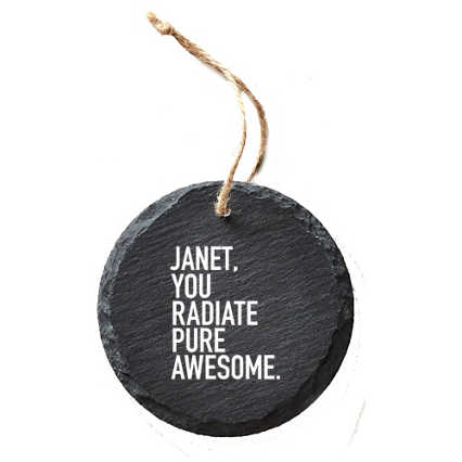 Custom Collection: Modern Slate Holiday Ornament - Round